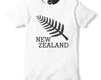 New Zealand T Shirt Fern Leaf, Rugby T Shirt, All Blacks Rugby, Brand New Mens Womens and Kids Top, Tee 603