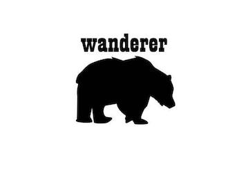 Pacific Northwest Bear - Wanderer Vinyl Decal