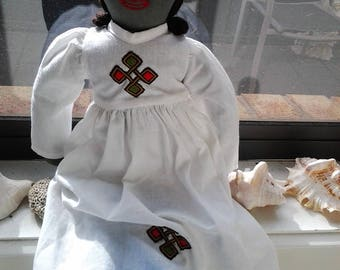 Vintage Handmade Calico Doll
