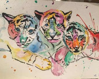 Multicolour Bengal Tigers - #3 of Asian Animals Series