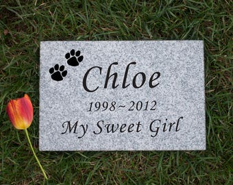 "9"" x 6"" x 1"" Granite Pet Memorial Stone - Free Shipping"