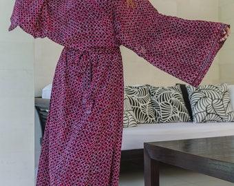Suki Wrap Kimono, Cover-Up, Loungewear, Yukata, Robe, 125-100