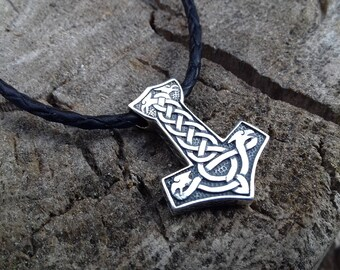 Mjolnir Pendant, Viking Jewelry, Thor's Hammer, Scandinavian, Norse, Mjölnir, Amulet, Mjölnir, mjolnir necklace, mjolnir talisman, slavic