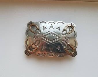 Silver Horseshoe Belt Buckle