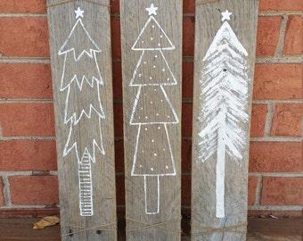 Rustic Wood Christmas Tree Signs