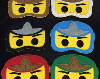 6 Pc Lego Ninjago Felt Masks Party Supplies Birthday Party Favor Costume