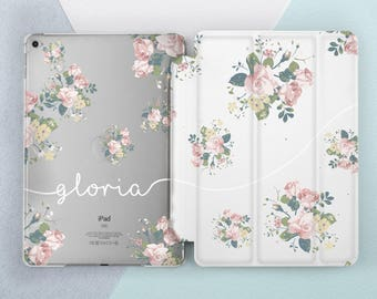 Floral Personalized iPad case Custom Floral iPad pro 10 5 case iPad pro 12 9 case Personalized iPad mini 4 case iPad air 2 case iPad 5 case