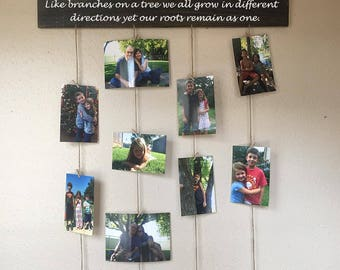 Family, like branches on a tree we all grow in different directions yet our roots remain as one wood sign/picture hanger