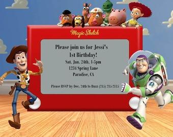 Toy Story Birthday Invitations