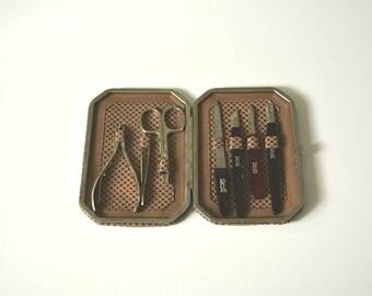 Vintage Wilkinson Nagelpflegeset im handlichen Etui