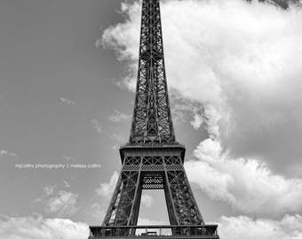 Eiffel Tower Paris France Black and White