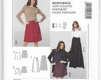 Burda 6980 Miss Pantskirts In 3 Versions Size 8-10-12-14-16-18-20 Uncut