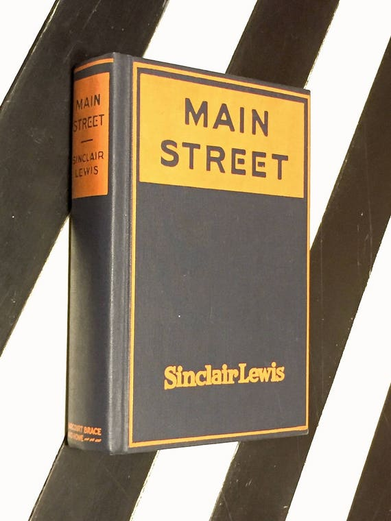 Main Street by Sinclair Lewis (1920) first edition facsimile book