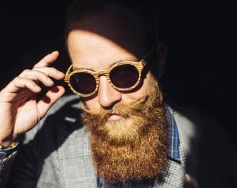Zebrano wooden sunglasses, Summer eyewear, Trend, Mens sunglasses, Gift for him, Unisex, Beach sunglasses, Cadeau pour hommes, Lunettes de