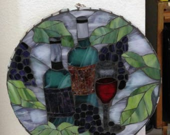 Wine Time Mosaic-Stained Glass Mosaics-Mosaic