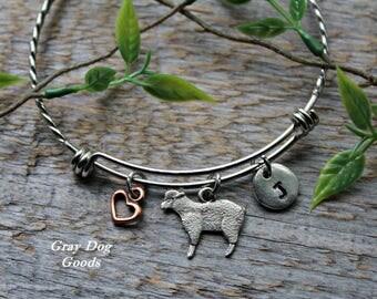 Sheep Lamb Bracelet, Sheep Jewelry, Pet Sheep, Sheep Lamb Sympathy