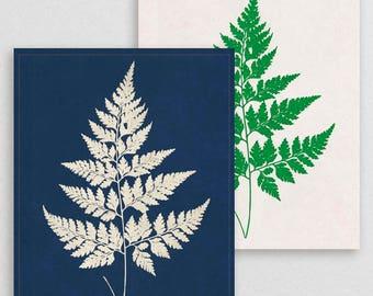 Classic Fern V- Botanical Decor- Botanical Gifts- Prints for Decor- Botanical Art- Ferns- Nature -Vintage -Vintage Prints -Vintage Art