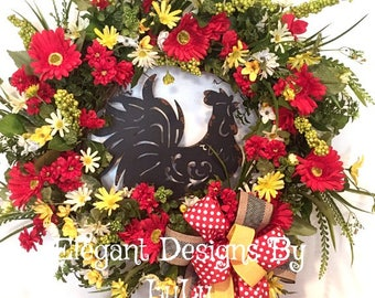 Rooster Wreath