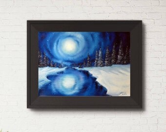 Winter Magic - A3 / A4 Giclee Print, mount optional