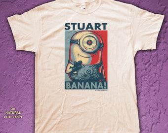 """STUART """"HOPE"""" style T-Shirts - pre shrunk 100% cotton, short sleeve t-shirt - Minions"""