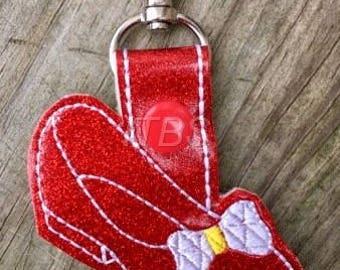 Ruby slipper key fob