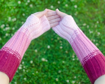Custom Arm Warmers - Knit Armwarmers - Texting Warmers -Long Hand Warmers - Fingerless Armwarmer - Knitted Arm Warmers - Hand Knit Warmers