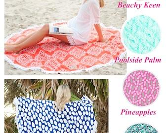 Round Beach Towel, Monogram Round Beach Towel, Personalized Round Beach Towel, Round Towel, Circle Beach Towel, Bridesmaids Gifts, Towel