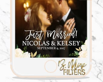 WEDDING SNAPCHAT GEOFILTER, Wedding Snapchat Filter,Floral Snapchat Filter,Custom Snapchat,Greenery Snapchat Filter,Script Snapchat Filter,