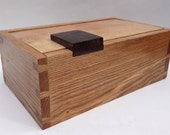Rutherford  Handmade  fine wood  box contemporary in style shown as AshWalnut box but you can customise it in wood size and interior.