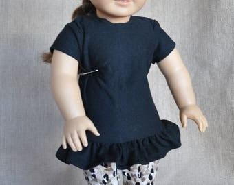 "Tunic and Leggings outfit for 18"" dolls including American Girl."