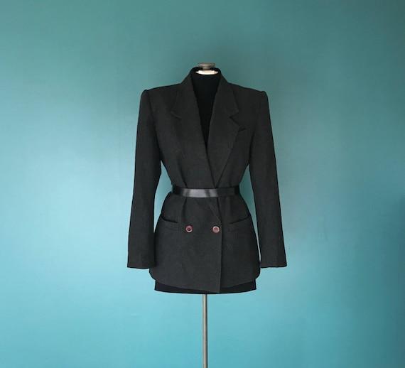 Minimal Blazer, Boyfriend Blazer, Gray Minimal Blazer, Gray Wool Blazer, Minimal Gray Blazer, Vintage Gray Blazer, Minimal Fall Jacket