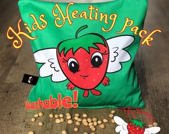 Kids Easter Gift, Cute Strawberry Cherry Pit Pillow, Microwaveable Heat Pack, Colics in Babies, Kids Boo Boo Ice Pack, Back Pain Relief