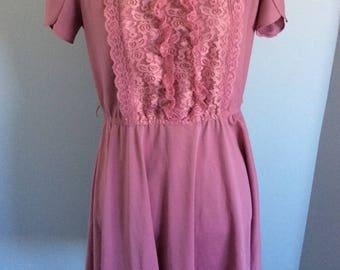 Vintage Dress pink plum