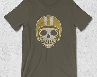 Motorcycle gifts - Skull Shirts - Vintage Motorcycle T-Shirt - Gifts for Men - Graphic Tee for Man - Grunge T-Shirt -Retro Motorcycle Tshirt