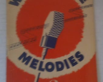 Vintage 1940s Music Book, Word of Life Melodies Number 2 by Norman J. Clayton