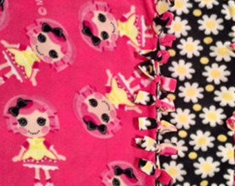 ButtonEyed RAGDoll! handmade fleece blanket designed  by JAX. Get this creepy Coraline ragdoll themed throw and let your freak flag fly!