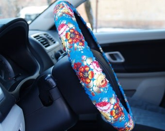 Cute steering wheel covers Floral Car accessories Flowers steering wheel cover Birthday gift for woman Car decorations Accessory for woman