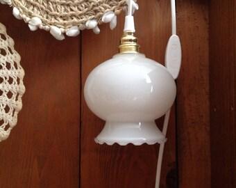 White opaline lamp