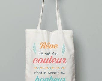 Tote bag - the secret of happiness