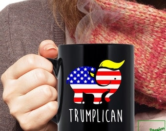 Trumplican Mug, Donald Trump 2016 Coffee Mug, Proud Member of the Basket of Deplorables #BasketOfDeplorables Mug, Trump Pence 2016, 92001BM