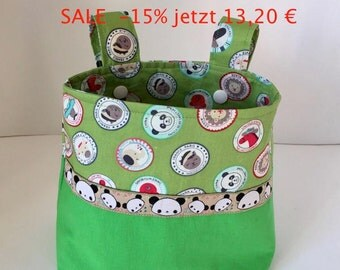 Bicycle bag kids bike basket handlebar basket basket Panda