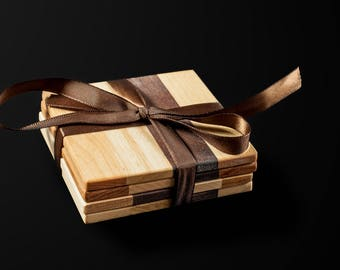Reclaimed wood coasters