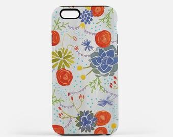 Floral Phone Case Cover - Tough iPhone Samusung 6 6s 7