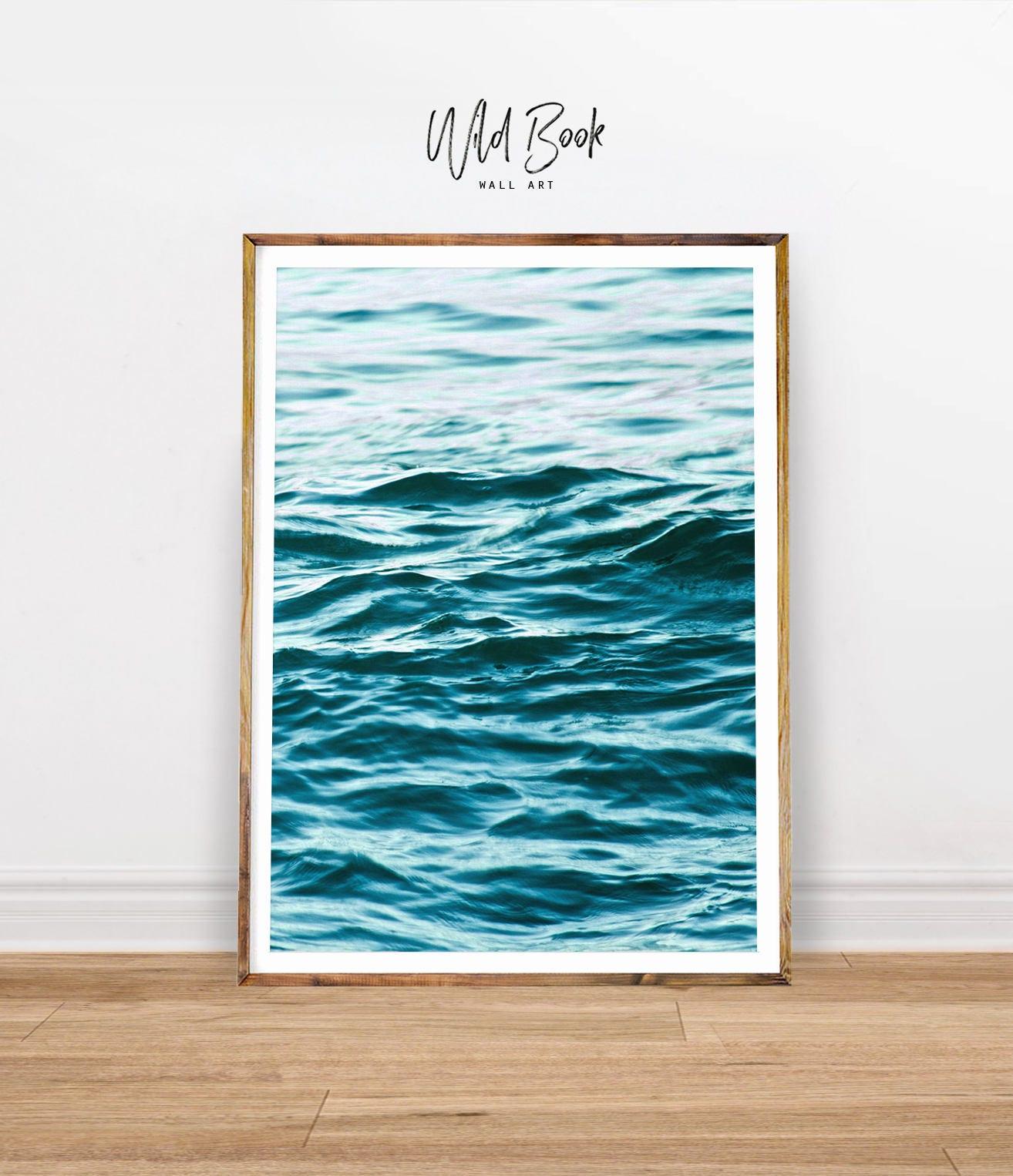 ocean print ocean water art print ocean surf print ocean