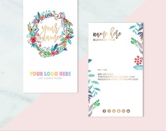 """LLR+LULA """"BOHO"""" Business Cards Custom Home Office Approved - Business Cards For Consultants"""