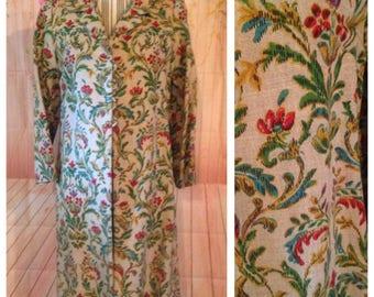 Vintage Ladies Hand Painted Coat