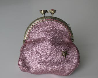 Retro purse pink glitter