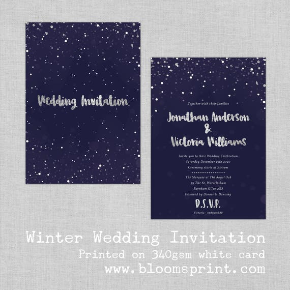 Wedding invitations navy and silver, White and Silver Wedding Invitations, Navy blue wedding invites, Gold and navy wedding invitations, A5