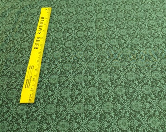 Green on Green Cotton Fabric from Benartex