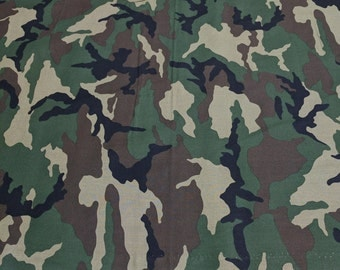 Green Camouflage Cotton Fabric from VIP